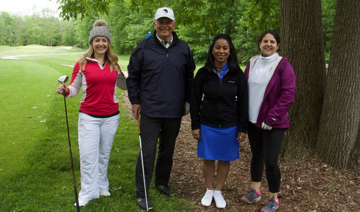 group of four golfers at 2018 event